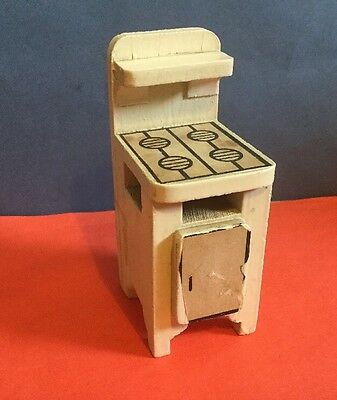 Vintage Dolls House Triang Early Wooden Cooker