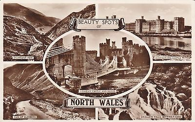 034 24- Wales - BEAUTY SPOTS OF NORTH WALES - MULTI IMAGE CARD