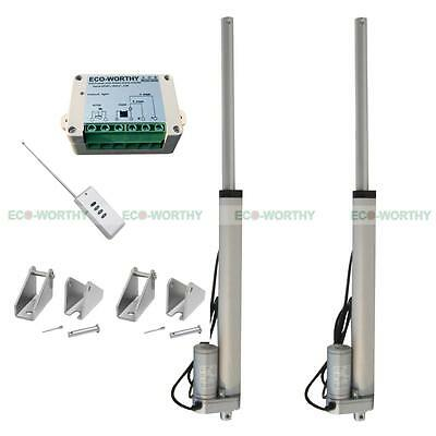 """18"""" 12V Linear Actuator & Brackets Remote Controller 330lbs Max Lift for Camera"""