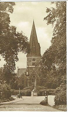 Sunningdale Church Publisher Frith Vintage Postcard