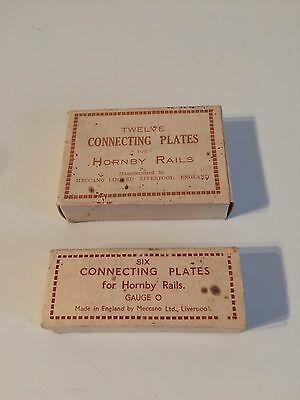 vintage Hornby O Gauge Original Empty Box Connecting Plates X2