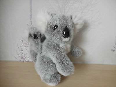 "Realistic Koala Bear & Baby Soft Cuddly Plush Toy 10"" Sat ~ Excellent Condition"