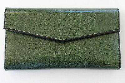 Vintage St. Thomas Cowhide Leather Caretaker Women's Wallet Forest Green NEW