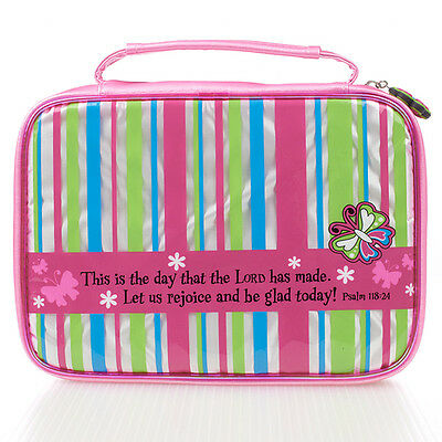 Bible Cover - Medium Little Miss Grace Striped