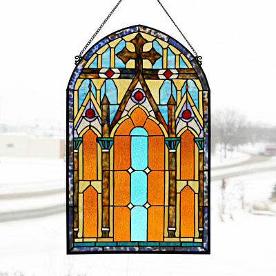 River of Goods Roman Cathedral Stained Glass Window Panel