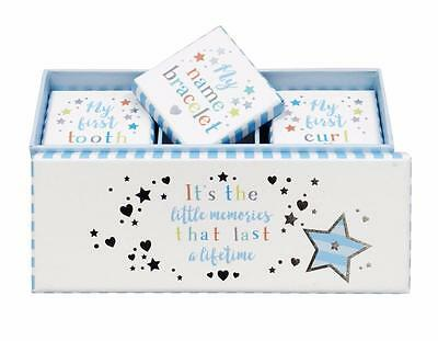 Baby Boy Gift - My First Tooth Curl and Bracelet Keepsake Box Set BAB010