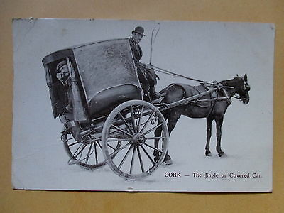 Cork Postcard/the Jingle Or Covered Car- Address To R.i.c. Officer