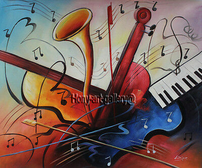 Art Modern Wall Art Music abstract oil painting on Canvas Living Room deco H2188
