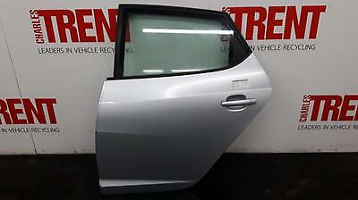 2010 SEAT IBIZA 5 Door Hatchback Silver N/S Passengers Left Rear Door (431593)