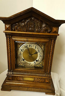 """Rare Antique 1914 Junghans 16"""" Wooden Mantle Mantel Cuckoo Clock Collection Only"""