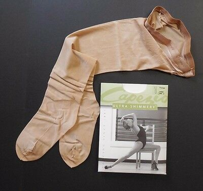 NWT Capezio 1808 Ultra Shimmery Footed Tights Adult Caramel Dance Jazz