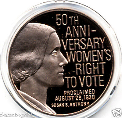 Susan B Anthony League of Women Voters Vote Voting Rights 1920-70 Bronze Medal