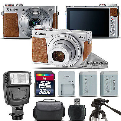 Canon PowerShot G9 X Mark II Digital 20.1MP Camera + EXT BAT + Flash - 32GB Kit