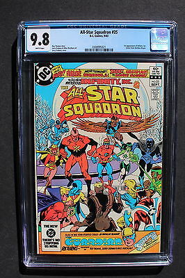 ALL-STAR SQUADRON #25 1st INFINITY INC 1983 1st ATOM SMASHER CW TV Flash CGC 9.8