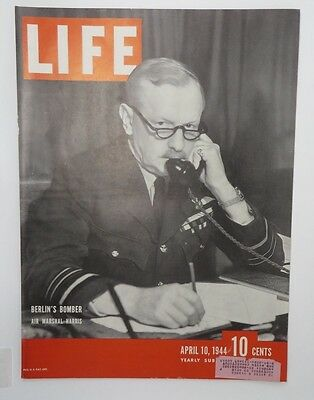 Original Life Magazine COVER ONLY April 10 1944 Berlin's Bomber Air Marshal