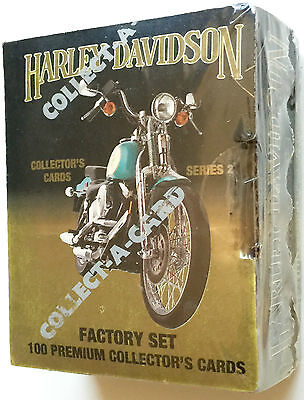 Harley Davidson Collect A Card Series 2 Sealed Factory Set 100 Collector  Cards