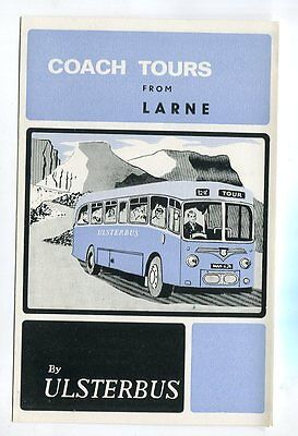 Ulsterbus: Coach Tours from Larne: June to August, 1967: folded leaflet