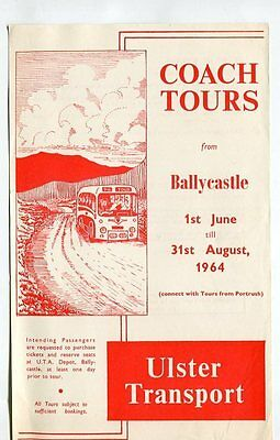 Ulster Transport: Coach Tours from Ballycastle: June to August, 1964