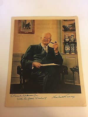 President Herbert Hoover Oversized Magazine Photo Signed - Uncommon Image