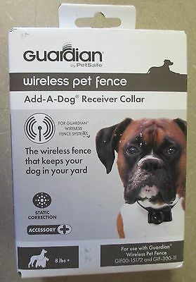 Guardian Petsafe Wireless Pet Fence System Add-A-Dog Receiver Collar GIF00-15173