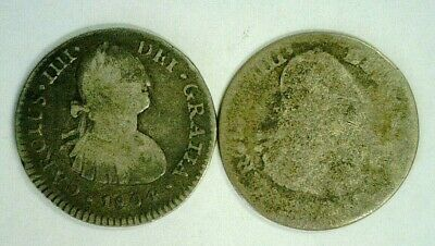 1806 Mexico Silver 1 Real & 1 No Date Real          (3303)