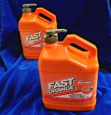 LOT OF 2 GoJo 0955-02 Natural Orange Pumice Pump Hand Cleaner Gallon USA 0955