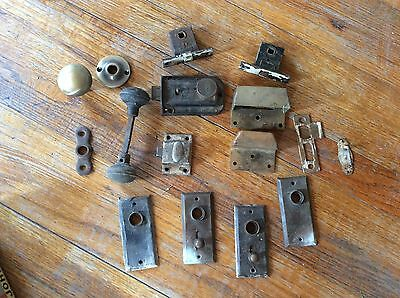 vintage door knobs & hardware latches cupboard plates Yale lock mortise