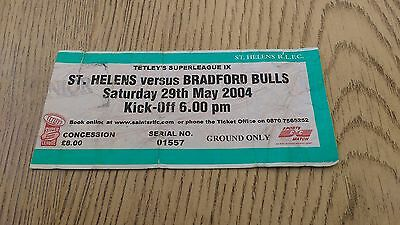 St Helens v Bradford Bulls 2004 Used Rugby League Ticket