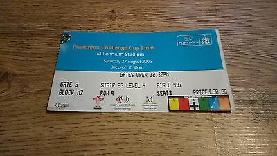 Hull v Leeds 2005 Used Rugby League Challenge Cup Final Ticket