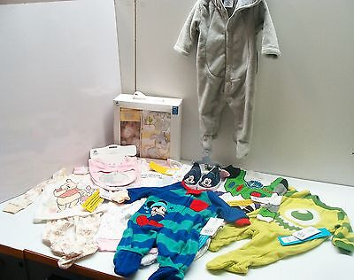 Disney Baby Store Lot Clothes Sleepers Sneakers Footed PJs Bibs Gift Set NWT