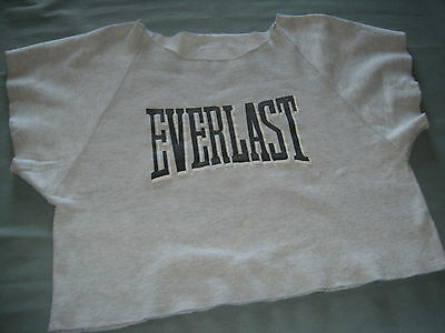 VINTAGE 80s EVERLAST Work Out CROP TOP SWEAT SHIRT SIZE MEDIUM