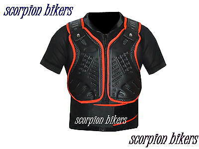 Motorcycle Motocross Vest Body Armour Back Spine Protector XL