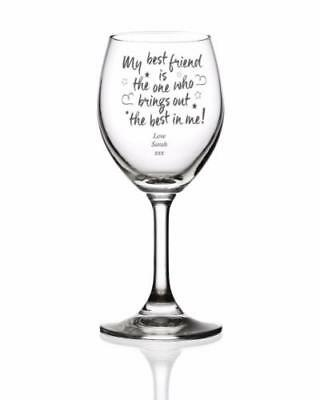 Best Friend Personalised Engraved Wine Glass Gift MBF-WG