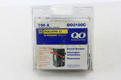 New! Square D – Qo2100C Circuit Breaker 2 Pole 100 Amp 120/240 Volt