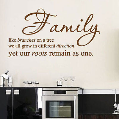 Family Bedroom Wall Quotes Art Wall stickers / Wall decals / Wall Mural 113