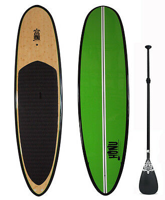 Stand up Paddle - SUP 10'0 + Fins + Paddle : Bamboo Finish