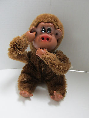 Vintage Russ RUTHERFORD III Nose Picking Thumb Sucking Poseable Plush Monkey