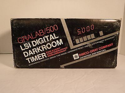 LSI Digital Darkroom Timer Gralab 500 Original Box and Packaging