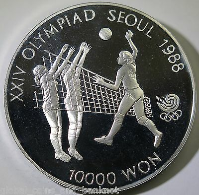 South Korea - 1987 10000 Won - Olympic Games - Silver Proof Coin