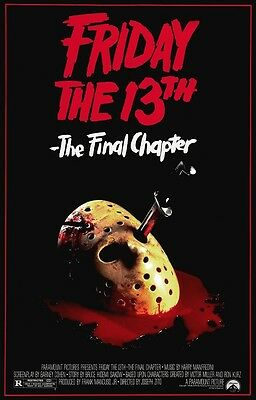 Friday the 13th The Final Chapter movie poster - Jason Voorhees,  Horror