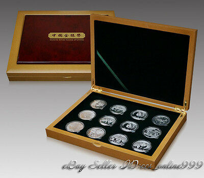 Luxury Wooden Coin Box Display Case Holders for 12 1oz China Panda Silver Coins