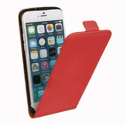 New Stylist Red PU leather Phone Flip Case Cover For Iphone 6/6S [d16