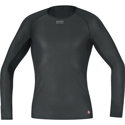 Windstopper Funktions Unterhemd Gore Bikewear Base WS Long Shirt schwarz