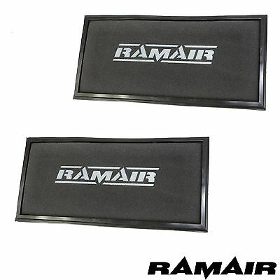 Pair of Ramair Replacement Panel Air Filter for Cayenne VW Touareg Range Rover
