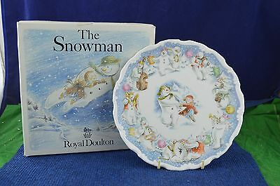 Lovely Royal Doulton Snowman ''Dance Of The Snowman'' Decorative Plate RD7053