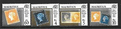 MAURITIUS SG965/8 1997  150th ANNIV OF THE POST OFFICE (STAMPS) MNH