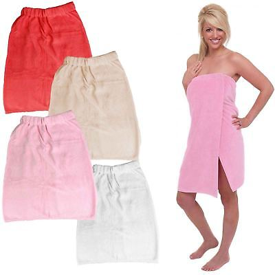 Deluxe Super Soft Shower Wrap Bath Towel Self Fastening Towelling Beach Cover Up