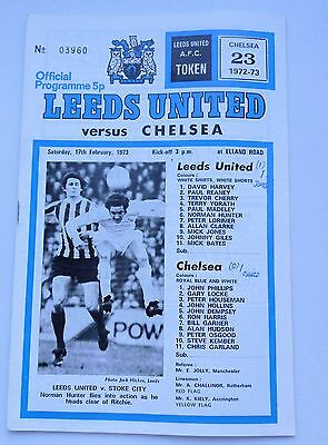 LEEDS UNITED v. CHELSEA FIRST DIVISION 1973 ELLAND ROAD