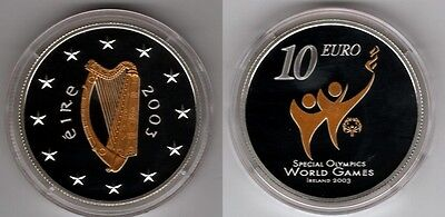 IRLAND   10 Euro 2003   Special Olympics   Silber/PP