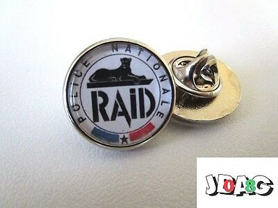 Pins Pin's Badge Raid Police Nationale France - Finition Argent Ou Or